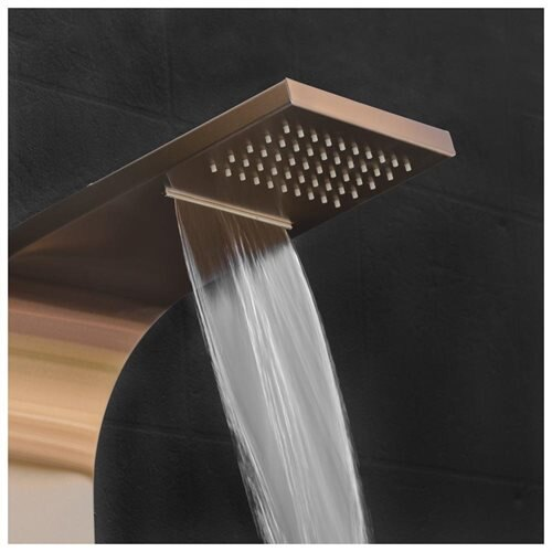 """65"""" Stainless Steel Shower Tower Panel System Spa Rainfall Waterfall Shower Head 1"""