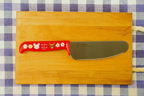 日本製 the bear's school 小熊學校 YAXELL 兒童用安全菜刀 不鏽鋼菜刀 紅色 *夏日微風*