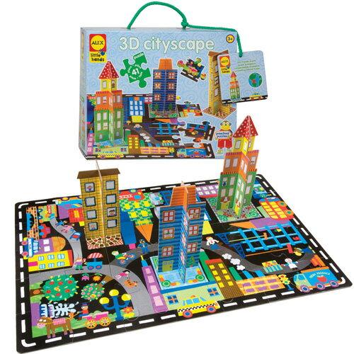 【美國ALEX】立體地板大拼圖-城市風景
