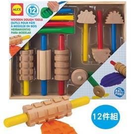 【美國ALEX】木質黏土工具組(12件組)