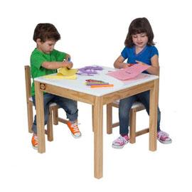【美國ALEX】小白兔優木方桌