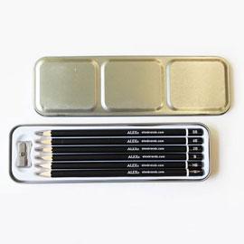 【美國ALEX】素描鉛筆6階組(鐵盒裝)