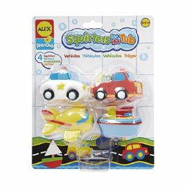 【美國ALEX】可愛噴水洗澡組/洗澡玩具-交通/交通工具