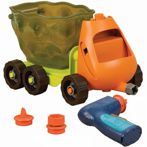 【B.Toys】快樂玩組裝-拼卡車(載卡多翻斗車)