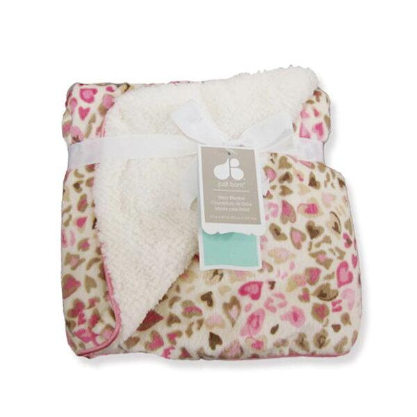 【美國justborn】多用途寶寶攜帶毯-豹紋甜心柔柔毯