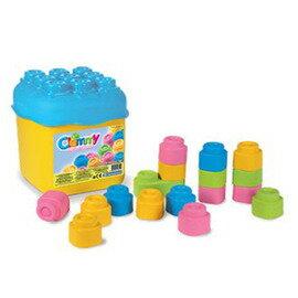 CLEMMY義大利軟積木-20pcs粉色桶裝14771