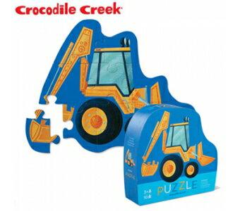 《美國Crocodile Creek》迷你造型拼圖系列-挖土機(10片)