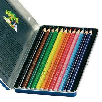 【義大利 GIOTTO】STILNOVO 水溶性彩色鉛筆(12色)鐵盒