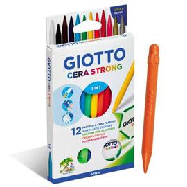 【義大利 GIOTTO】小巨人可削式蠟筆12色 (內附專用削筆器)