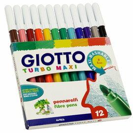 【義大利 GIOTTO】可洗式兒童安全彩色筆(12色)
