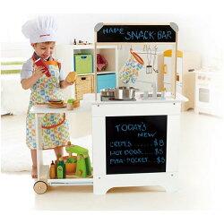 【德國Hape愛傑卡】角色扮演系列移動式點餐廚具台 ★加贈:小王子裝飾貼紙、或夜光貼紙(隨機)