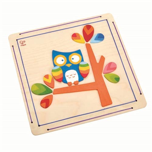 【德國Hape愛傑卡】木製工藝系列貓頭鷹彩繪