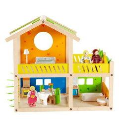 德國【Hape愛傑卡】娃娃屋系列 我的快樂小屋(含傢俱)