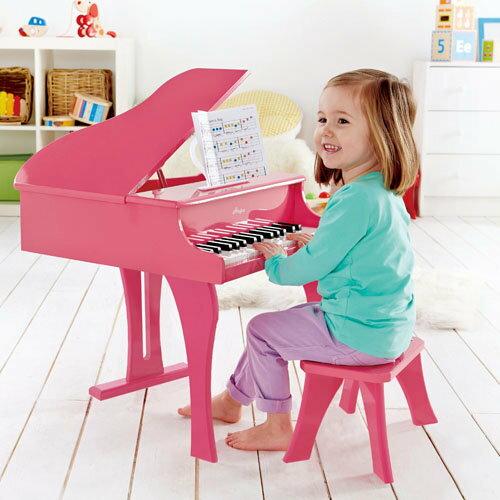 【德國Hape愛傑卡】音樂大鋼琴-粉紅 ★加贈:愛智娃娃書一本