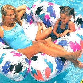 INTEX 四枕頭的水上沙發 (氣墊底) 184cmx168cm