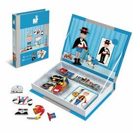 【法國Janod】磁鐵遊戲書-男孩變裝秀