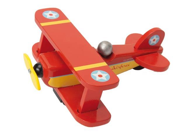 【英國LE TOY VAN】紅色復古飛機