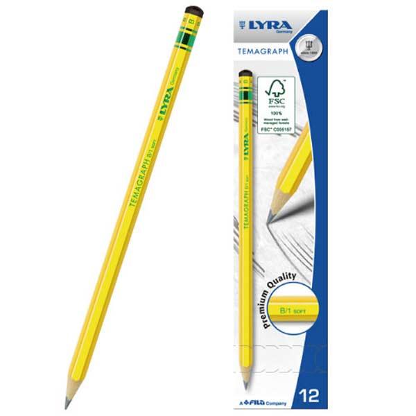 【德國LYRA】百年經典黃桿鉛筆(12入)