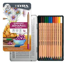 【德國LYRA】林布蘭專業水溶性色鉛筆(12色鐵盒裝)
