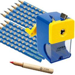 【德國LYRA】三角洞洞鉛筆超值組@三角洞洞鉛筆12入+鉛筆延長器+削鉛筆機   ★加贈:Lyra筆筒