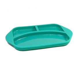 【加拿大MARCUS&MARCUS 】動物樂園矽膠兒童餐盤-大象(綠)