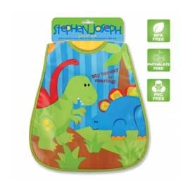 《美國Stephen Joseph》童趣造型防水圍兜-恐龍樂園