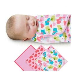 《美國Summer infant》聰明懶人育兒包巾-甜心小象3入組 ㊣原廠授權總代理公司貨