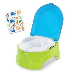 《美國Summer infant》3合1兒童馬桶練習組-藍綠 ㊣原廠授權總代理公司貨