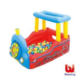 《Bestway》火車造型球池/遊戲池-附50顆球(69-50427)