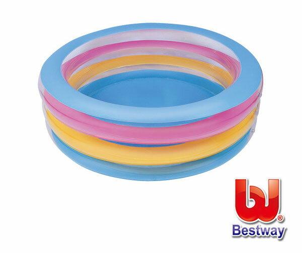 《Bestway》水晶三環充氣水池/游泳池/戲水池/蓄水池(69-50038)