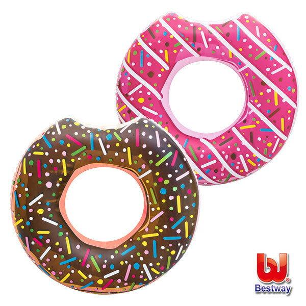 《Bestway》42吋甜甜圈充氣泳圈-巧克力/草莓二款可選擇(69-39064)