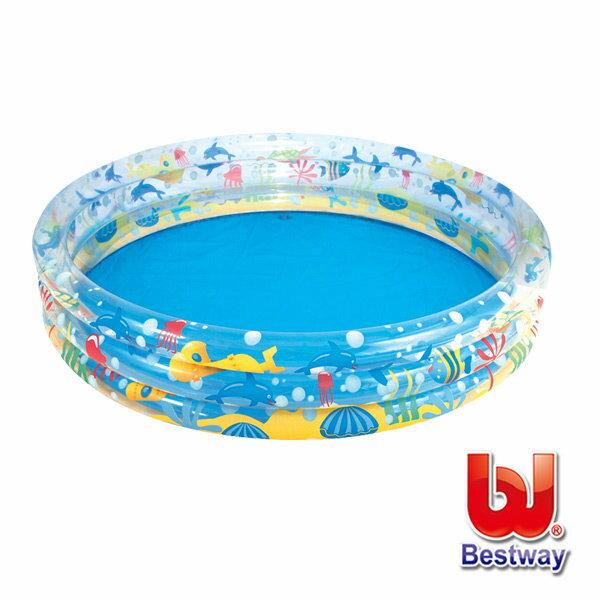 《Bestway》海底世界三層充氣泳池(51004)