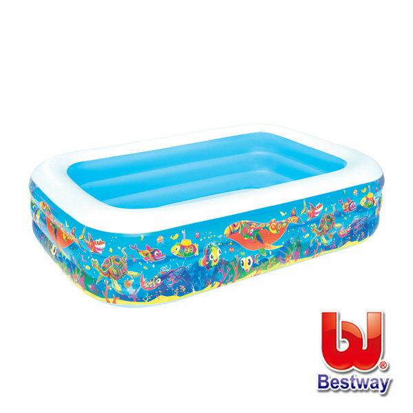 《Bestway》海洋生物充氣泳池(長229cm)-69-13798