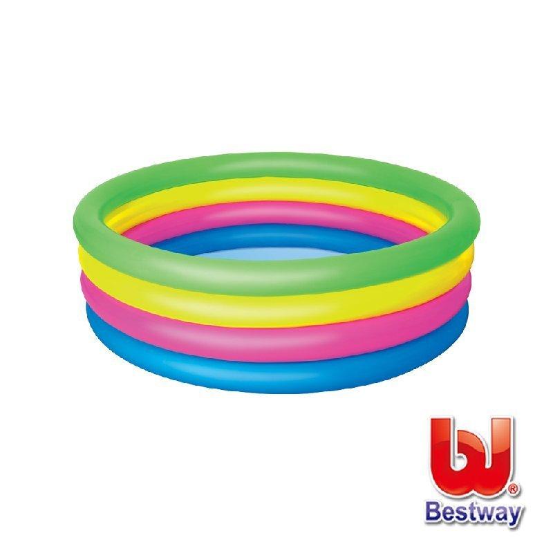 《Bestway》彩虹四環充氣泳池直徑157cm(69-13422)