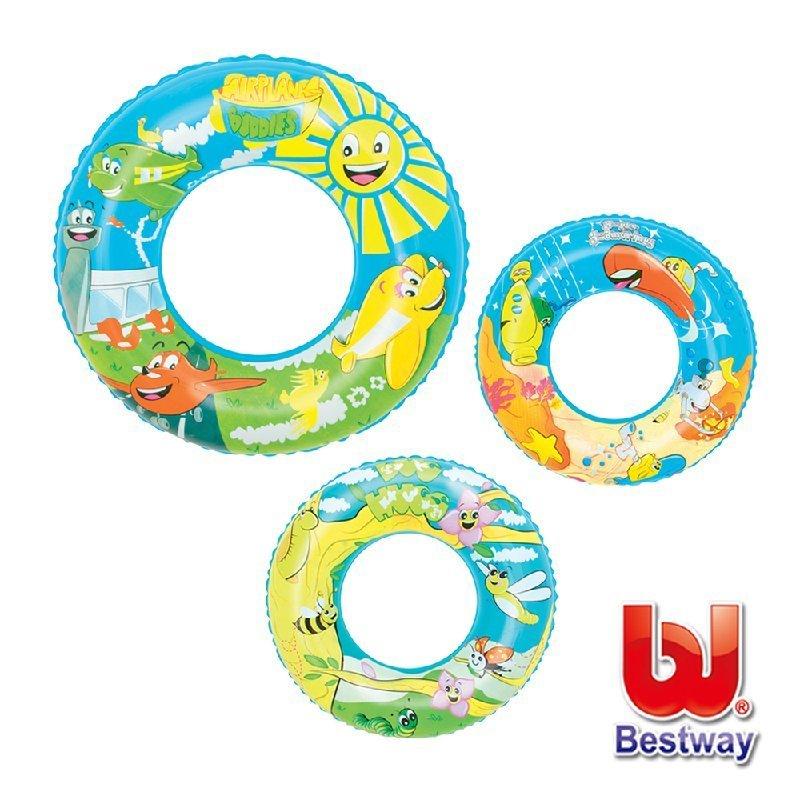 《Bestway》22吋設計家充氣泳圈(69-30559)-3款圖案隨機出貨