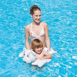 《Bestway》可愛25 x22 吋 動物頭像造型游泳圈-北極熊(69-30511-3)