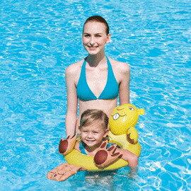 《Bestway》可愛25 x22 吋 動物頭像造型游泳圈-海獺(69-30511-2)