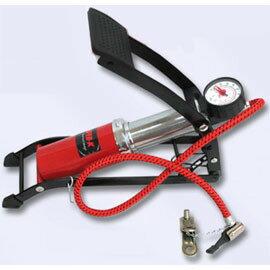 《SUPER-K》超酷高壓腳踩打氣筒-AC34539☆具通用性、附壓力指示表 ☆(63-84539)
