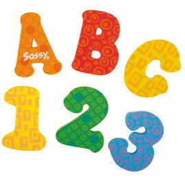 《SASSY》浴室貼貼樂(中)-ABC&123(共42片)