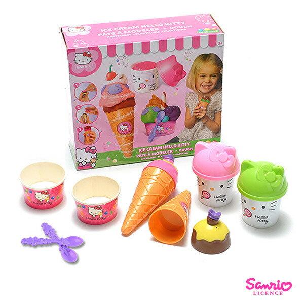 《巧天工》凱蒂貓KITTY冰淇淋派對黏土組-(35-68994)