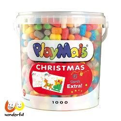 Playmais 玩玉米創意黏土耶誕超值桶