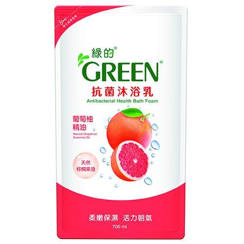 綠的抗菌沐浴乳補充包-葡萄柚700ml【愛買】