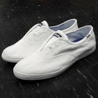 Keds 懶人鞋 基本款 水洗 白色 全白 棉布 軟墊 柔軟 舒適 可彎折 輕量 可拆鞋墊 送Keds購物袋