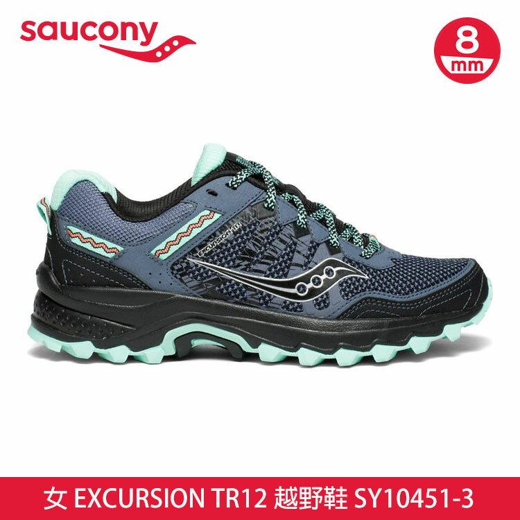saucony 女EXCURSION TR12 越野鞋SY10451-3【湖水綠-灰黑】 /  城市綠洲 (跑鞋、運動休閒鞋、EVERUN) 0