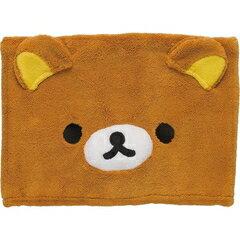 【真愛日本】16093000029保暖圍脖巾-大臉懶熊 SAN-X 懶熊 奶熊 拉拉熊 禦寒用品 圍巾 正品