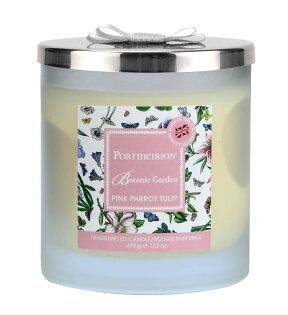 英國Portmeirion玻璃雙蕊蠟燭禮盒(含蓋)-鬱金香