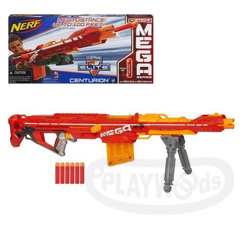 【Playwoods】[NERF樂活打擊]N-Strike巨彈系列:巨彈狙擊步槍Centurion Blaster(免運/孩之寶Hasbro/Mega系列子彈/N-Strike Elite/NERF衝鋒戰隊)(預購)