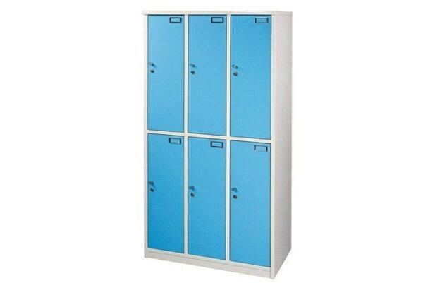 【石川家居】921-04(藍白色)六人置物櫃(附鎖)(CT-814)#訂製預購款式#環保塑鋼P無毒防霉易清潔