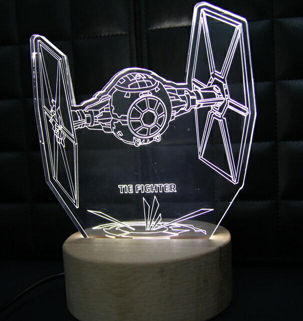 LED 造型 3D 立體燈 鈦戰機 Star Wars 星際大戰 星戰迷不可錯過 小夜燈 氣氛燈 生日禮物 禮物