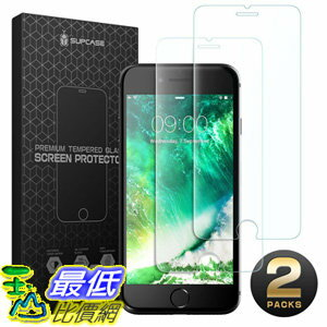 [106美國直購] 手機螢幕保護膜 SUPCASE iPhone 8 Screen Protector iPhone 7 Screen Protector Premium HD Tempered Gl..